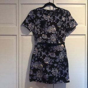 Like New Forever 21 Floral Dress with Cut out